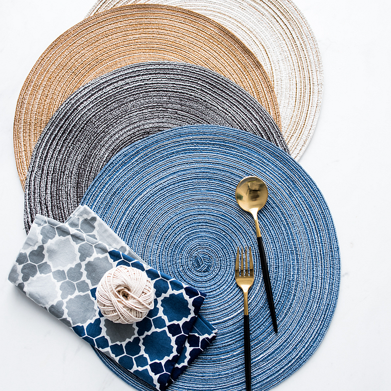 round weave line placemat for dining table tableware pad