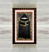 Else Black Floor Kaaba Red Flowers 3d Turkish Islamic Muslim Prayer Rugs Tasseled Anti Slip Modern Prayer Mat Ramadan Eid Gifts