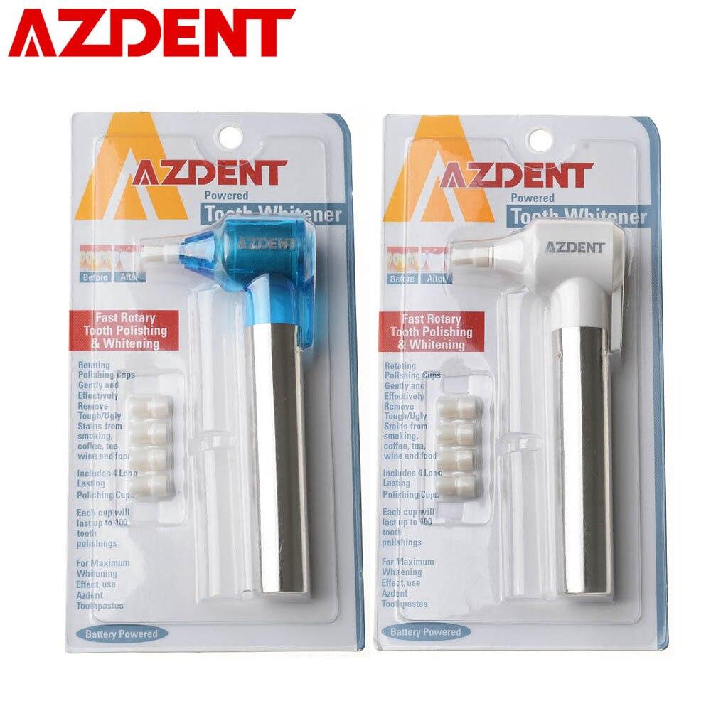 AZDENT Dente Teeth Whitening branqueador Burnisher Polidor Polimento Mancha Removedor de Dente Oral Care Ferramenta de Limpeza com Bicos Dicas