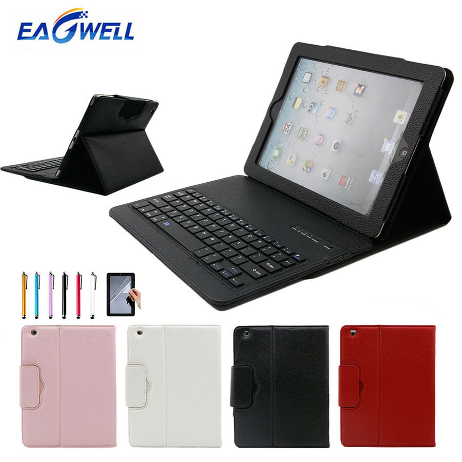 Bluetooth Keyboard Case For New iPad 9.7 2017 2018 Air 2 Air 1 Leather Stand Cover Tablet Wireless Keypad Case for iPad Pro 9.7 wireless removable bluetooth keyboard case cover touchpad for lenovo miix 2 3 300 10 1 thinkpad tablet 1 2 10 ideapad miix