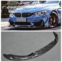 3D Style Carbon Fiber Front Bumper Chin Lip Spoiler for BMW F80 M3 F82 F83 M4 2014 up Original M Bumper car accessories