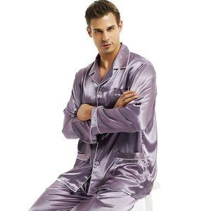 Image 5 - Mens Silk satin Pyjamas Set Pyjama Pyjama Set PJS Nachtwäsche Loungewear S, M, L, XL, XXL, XXXL, 4XL