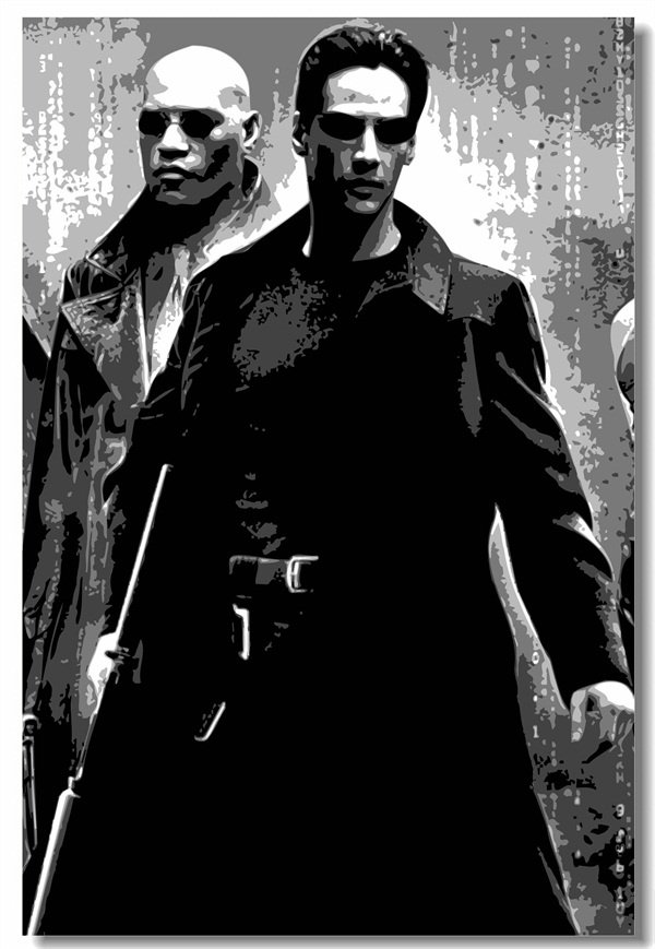 Custom Canvas Wall Decor The Matrix Poster The Matrix Neo