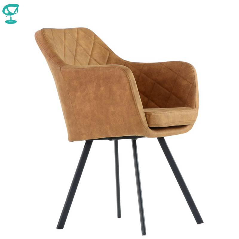 K20L1VpuBrown Barneo K-20 Eco-Skin Interior Lounge Chair Kitchen Furniture Metal Legs Vintage Brown Free Shipping In Russia