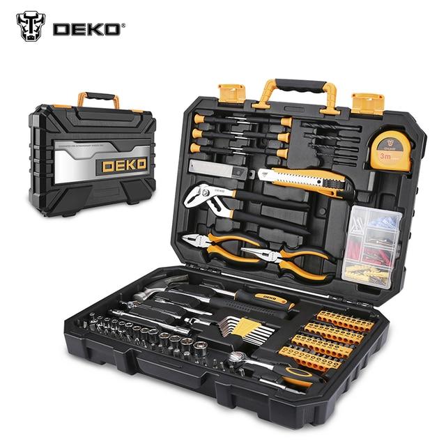 DEKO 196шт Домашний Набор Инструментов набор ключей отверток