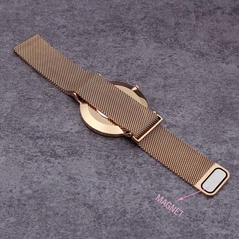 Luxury Brand Quartz Women Mesh Zegarki Mężczyźni Cienki Rose Gold - Zegarki damskie - Zdjęcie 2