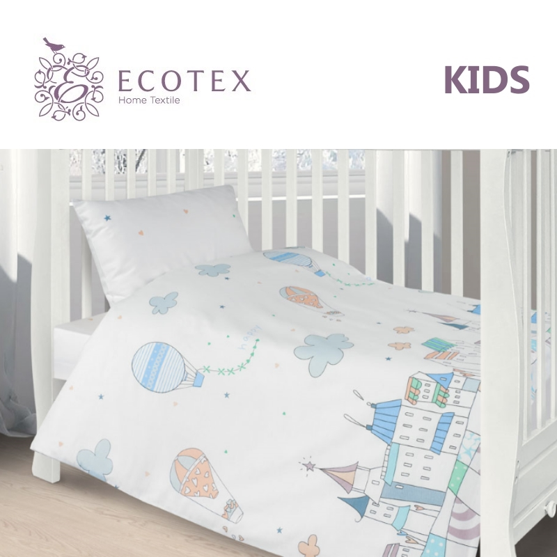 Фото - Baby bedding Happy town,100% Cotton. Beautiful, Bedding Set from Russia, excellent quality. Produced by the company Ecotex flower print bedding set