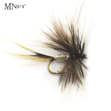 MNFT 10PCS 14# 12#  Grey Mosquito Dry Fly Hooks Fishing Trout Salmon Flies Fish Hook Lures