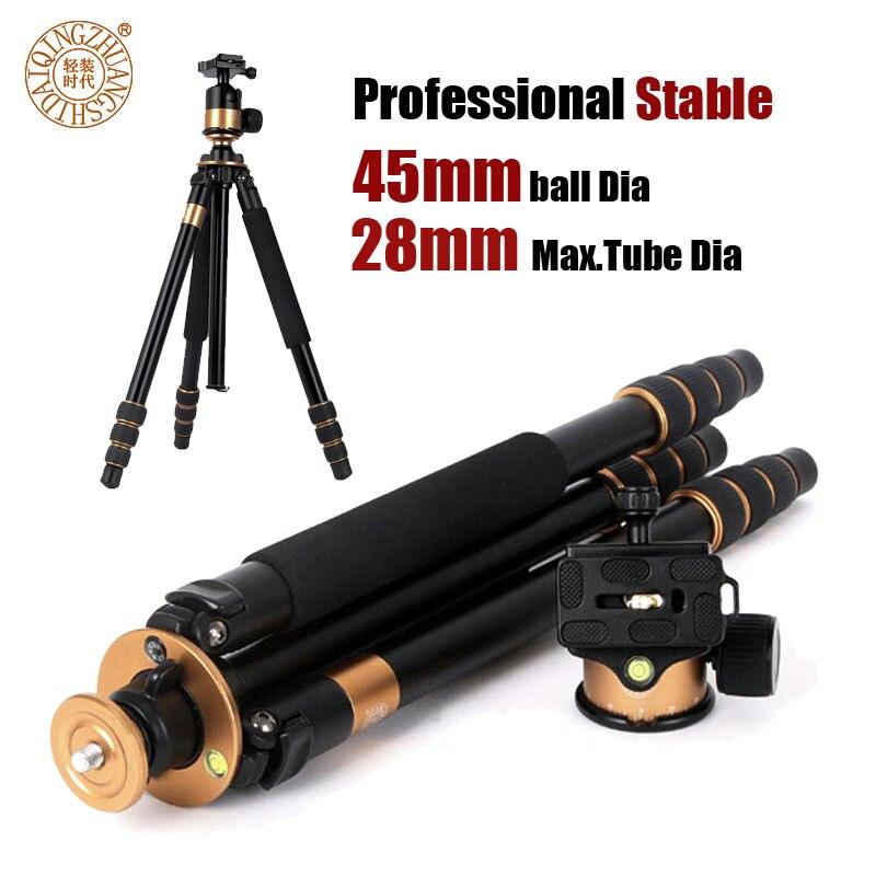 Stable Professionnel Trépied pour Appareil Photo REFLEX NUMÉRIQUE Portable Caméra Stand Photographie Trépied avec 45mm Rotule 28mm Max. Tube Envoyer byDHL