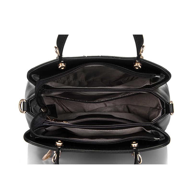 REALER женская сумка с короткими ручками, сумка на плечо через плечо для женщин из искусственной кожи, модная сумочка