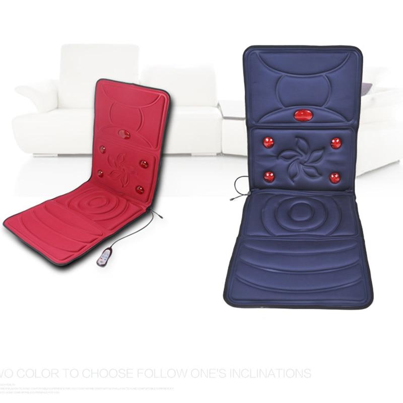 AngelRuila Far Infrared Massage Chair Heated Back Electric Massage Seat Auto Home Office Massage Cushion Heat Vibrate Back Neck цена