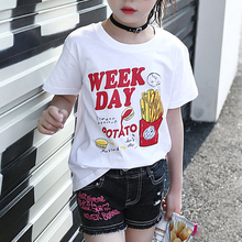 Kid New Casual Fashion Short Sleeve Round Neck Summer Tops Blouse