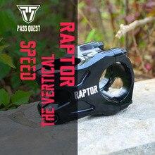 лучшая цена Super light 113g Taiwan PASS QUEST RAPTOR alloy Bicycle stem DJ/AM/FR/DH Downhill Mountain Bike stem 0 degree 40MM hight