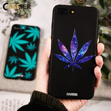 CASEIER Phone Case For iPhone 5s 5 SE Sexy Leaves Soft TPU Black Cover 7 8 6 6s Plus X XS Funda Capinha Accessories