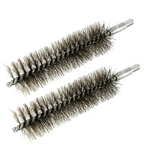 UXCELL 2PCS 0.12x140mm M6 Steel Wire Pipe Tube Sweep Brushes For Bottle Pipes Chimney Cleaning Brush