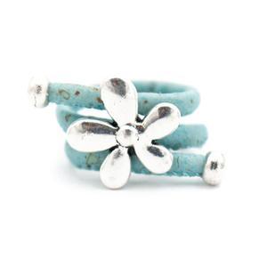 Image 3 - 10 unités de liège naturel et fleur accessoires anneau, Original fait main femmes anneau R 694 MIX 10