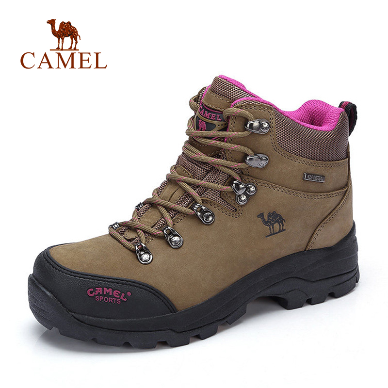 CAMEL Women High Top Hiking Shoes Durable Anti Slip Warm Outdoor Climbing Trekking Shoes Military Tactical Boots-in Hiking Shoes from Sports & Entertainment    3