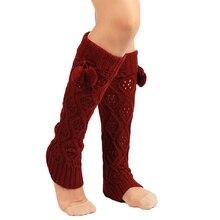 48488c027de27 Women Fashion Knitting Footless Wool Acrylic Fibers One Size Leg Warmers  Solid Striped Knee High Boot