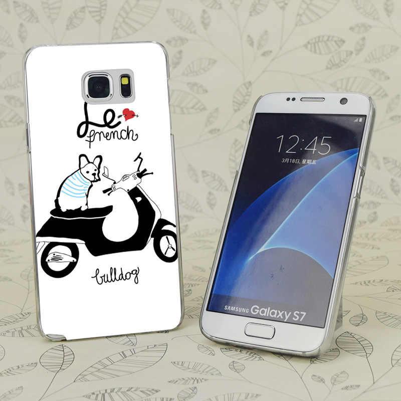 C0192 Le Французский бульдог Прозрачный Жесткий ПК чехол для samsung Galaxy S 3 4 5 6 7 Mini Edge Plus Note 3 4 5 9