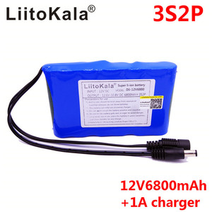 Image 2 - LiitoKala Portable Super 18650 Rechargeable Lithium Ion battery pack capacity DC 12 V 6800 Mah CCTV Cam Monitor 12.6V 1A Charger
