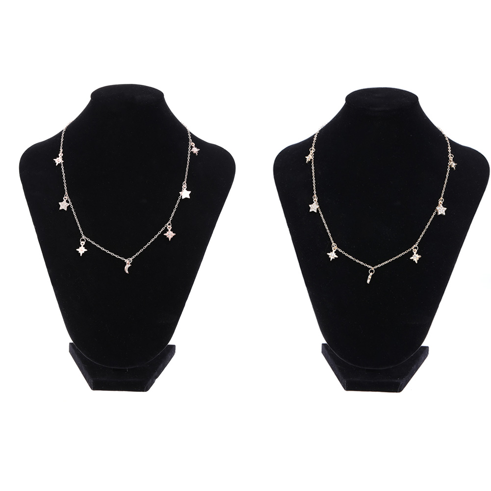 Choker Necklaces for font b Women b font Small Simple Metal Stars Moon Pendant Fashion font