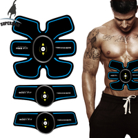 Superman ems trainer tens ems machine smart fitness muscle stimulator muscle stimulation training gel pad