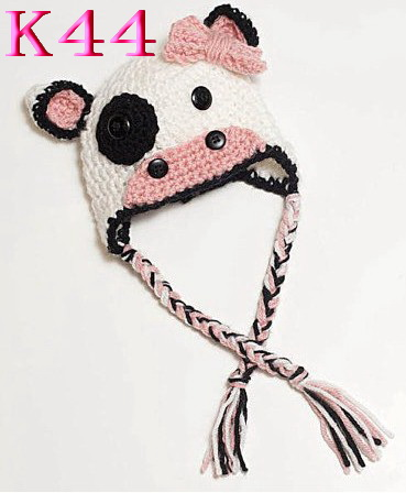Newborn Photography Props Cute Dog Children Crochet Knit Beanie Hat Baby Animal Cap Photo Props Infant Hat