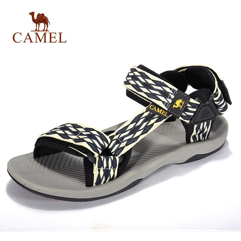 CAMEL Men Women Outdoor Beach Sandals Spring Summer Casual Anti-slip Hiking Trekking Shoes Fishing Sandals