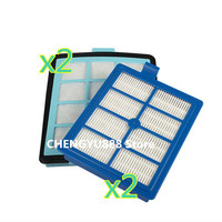 4 Vacuum Cleaner Parts 2x Exhaust Vents Filter 2x Intake Vents HEPA Filter Replacement For Philips