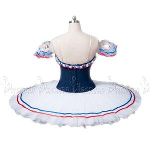 Image 3 - Chamas de paris traje branco ballet tutu profissional ballet tutu bt636 colombina traje competição feito sob encomenda tutu roupas