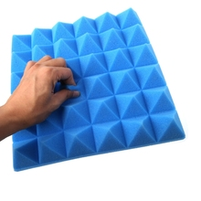 2017 300 X 300 X 50mm Soundproofing Foam Acoustic Foam Sound Treatment Studio Room Absorption Wedge Tiles Polyurethane Foams
