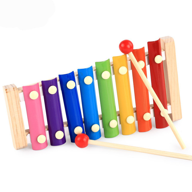Eva2king Music Enlightenment 8 Scales Musical Teaching Aid Toys Wooden Instrumentos Musicais Kids Baby Muziek Xylophone Toy