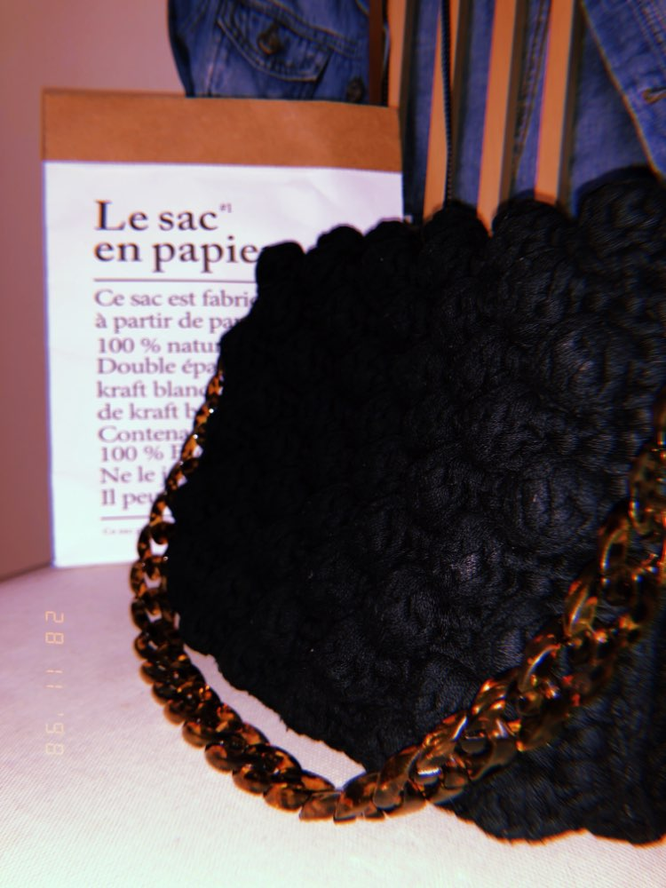 Fish Bone Acrylic Resin Bag Chain Diagonal Handbag Bamboo Bag Acrylic Strap photo review