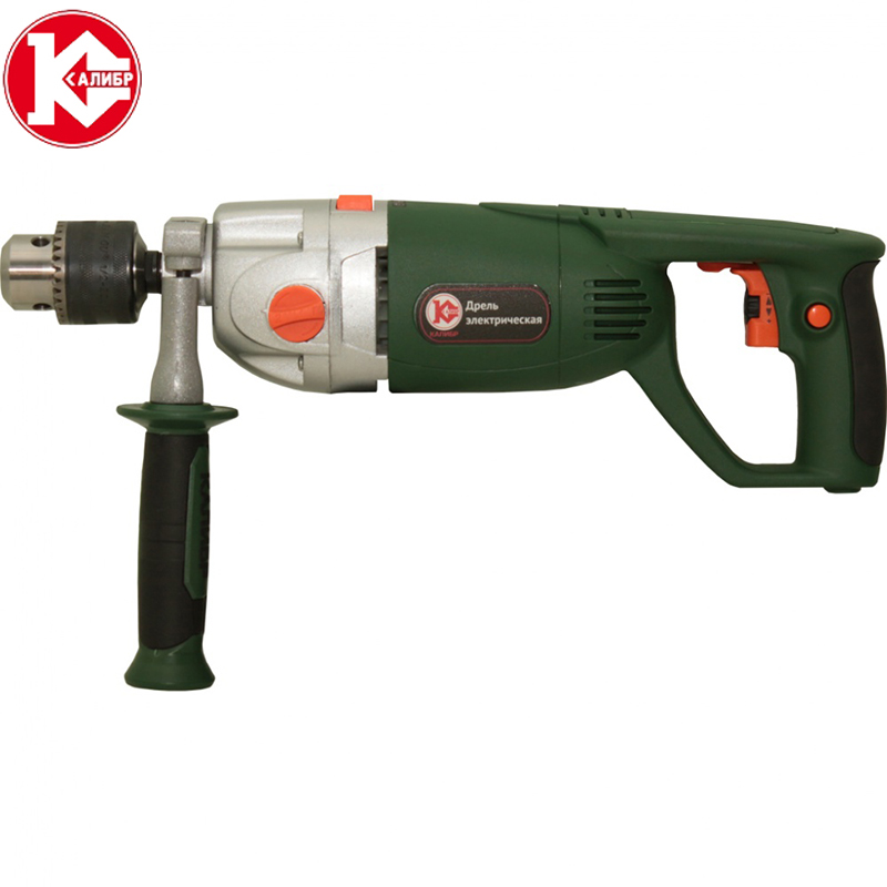 цена Kalibr DE-1200/2ERU Electric drill electric purpose multi-purpose industrial grade high power light impact drill