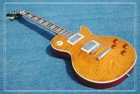 Wholesale High Quality Custom Shop LP 1959 R9 Electric Guitar Standard LP Guitarra Tobacco Burst In