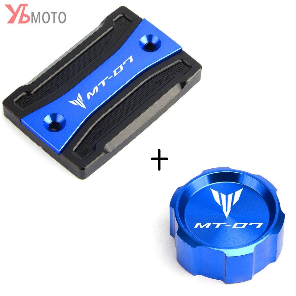 Pour Yamaha MT-07 MT 07 mt07 FZ07 2014-2019 2018 2017 moto CNC avant et arrière liquide de frein cylindre maître réservoir couvercle