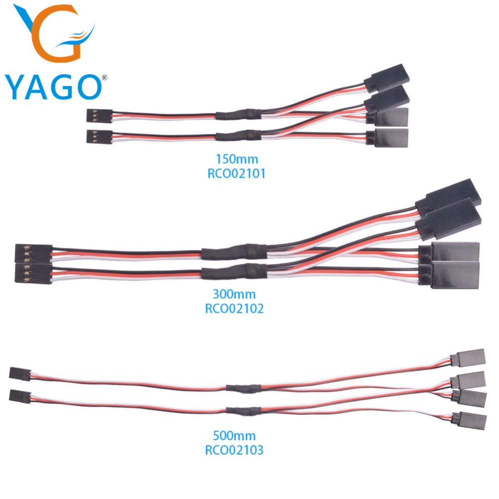 5pcs 150mm 300mm 500mm Y type extended line Extension Lead Wire Cable for Futaba JR Y Harness Servo Lead Extension рубашка piazza italia piazza italia pi022emaxhj3