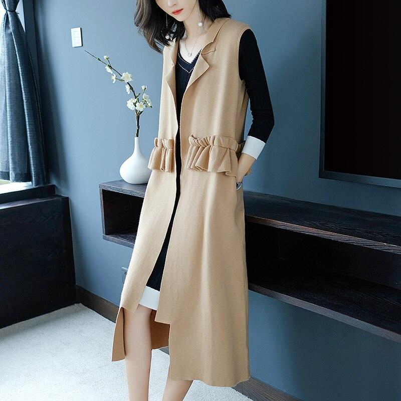 Herbst Und Winter Neue Hotel Stil Koreanische Version Pullover frauen Jacke Einfarbig Lange Ärmel Knit Open Stich Strickjacke