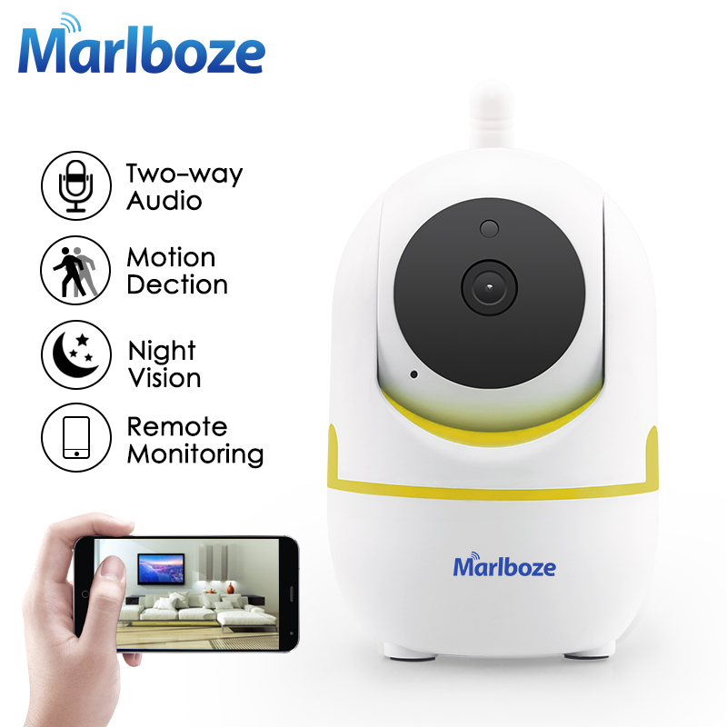 Marlboze 1080P HD Wifi IP Camera P2P IR-Cut Night Vision Two-way Audio Baby Monitor Wireless Home Security Surveillance Camera