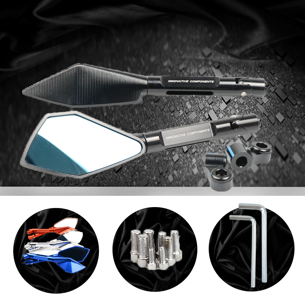 CNC Motorcycle Universal Rearview Mirrors Rear View Side Mirrorfor Aprilia caponord etv 1000 rst1000 futura rsv4