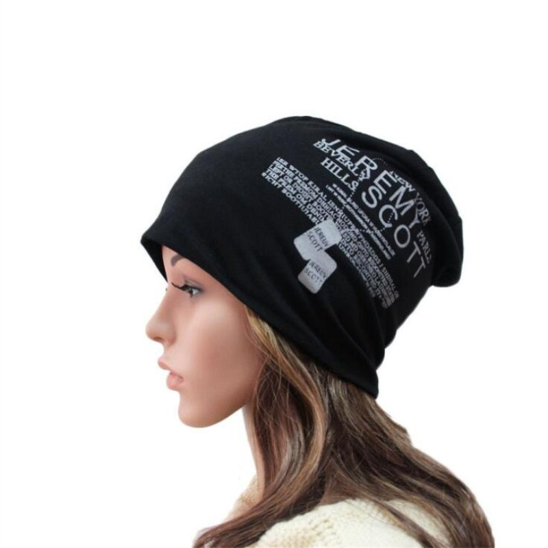 Seioum Letter Hedging Cap Men Women   Skullies     Beanies   Knitting Knitted Caps Bonnet Double Layer Cotton Hat Autumn Winter