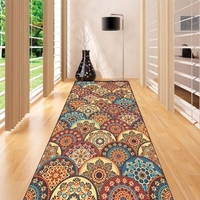 Else Brown Patchwork Ethnic Mandala Design 3d Print Non Slip Microfiber Washable Long Runner Mats Floor Mat Rugs Hallway Carpets