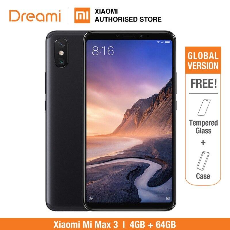 Versão Global Xiao mi mi max 3 4 64GB ROM GB RAM (Rom Oficial) mi max3