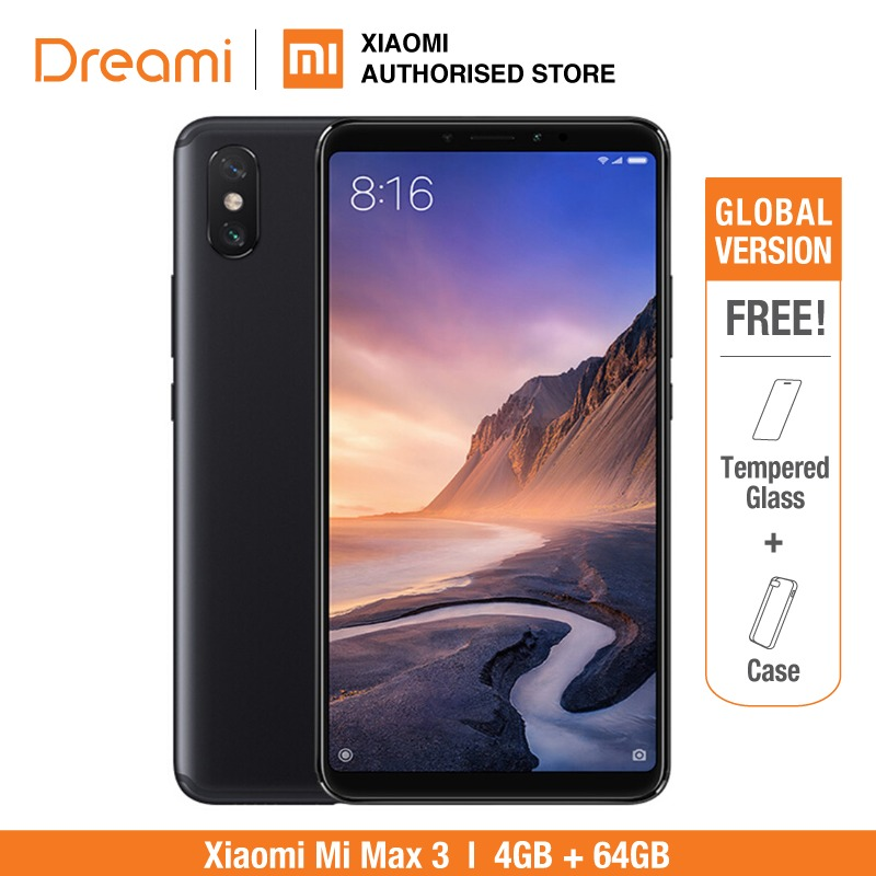 Version globale Xiao mi mi max 3 64GB ROM 4GB RAM (Rom officielle) mi max3