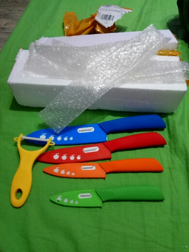 "FINDKING   Zirconia Ceramic Knife set 3"" 4"" 5"" 6"" inch+ Peeler+Covers Paring Fruit  Utility Kithchen Knife"
