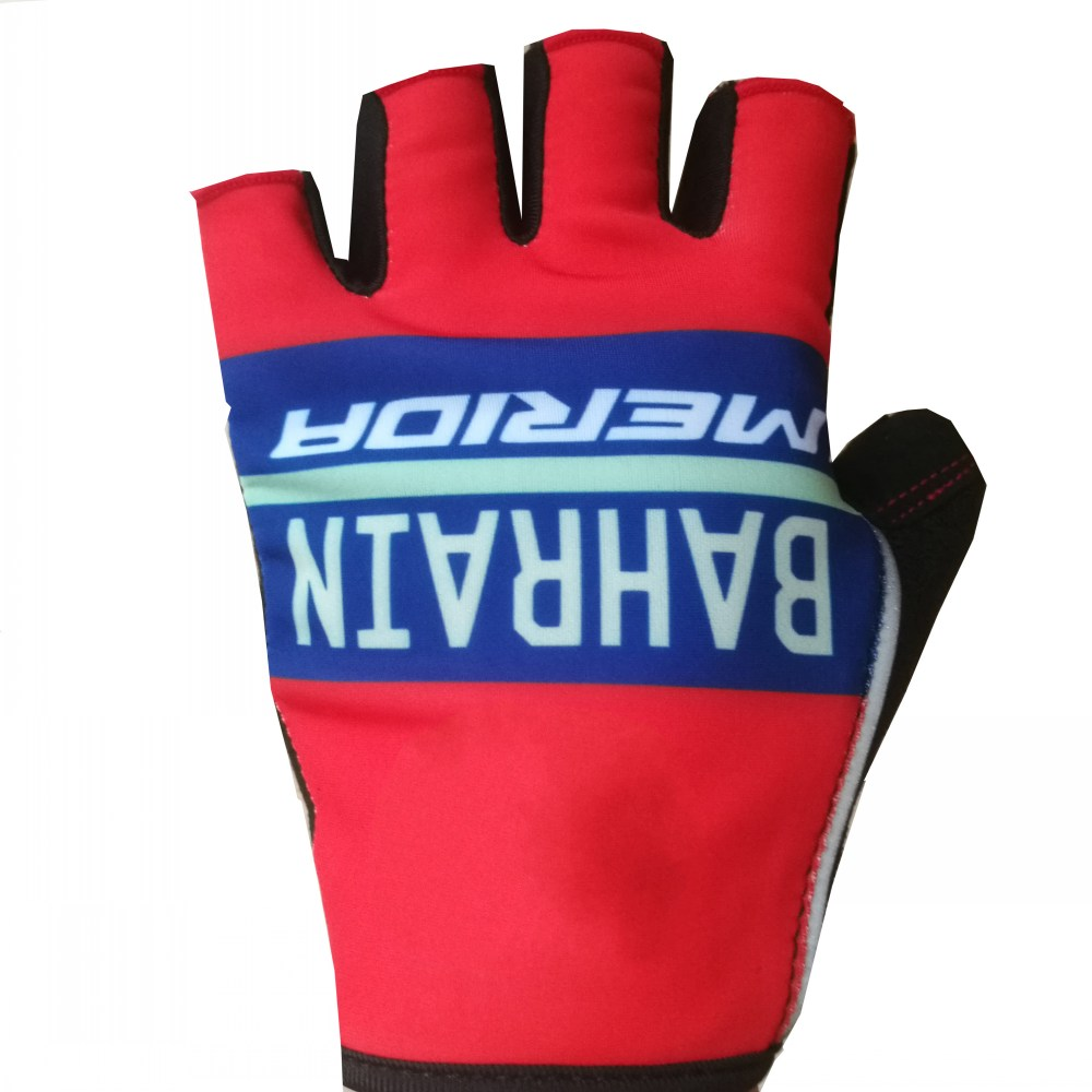 Pro team bahrain half finger Cycling gloves GEL shock absorption high quality summer fingerless mtb unsix Bike gloves Size m-XL цена