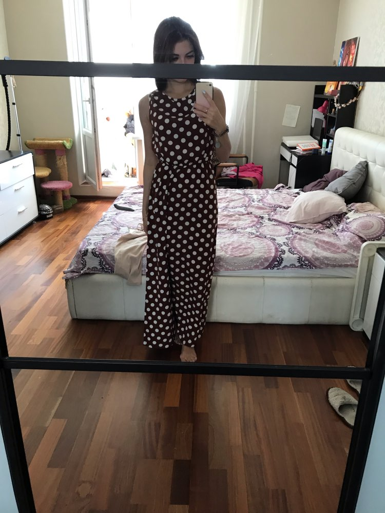 Maxi Polka Dot Dress Women Boho Beach Party Chiffon Summer Dress Elastic Waist Dot Casual Elegant Long Dress Vestidos photo review