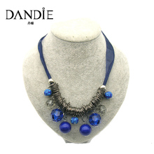 Dandie Trendy Blue  Acrylic Beads Necklace