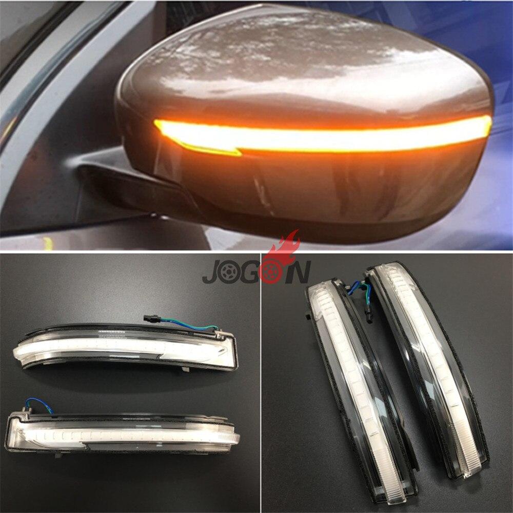DIODO EMISSOR de Luz Dinâmico Turn Signal Blinker Indicador Espelho Lateral Para Nissan X Trail-T32 J11 14-2018 Qashqai z52 15-18 14-2018 Murano
