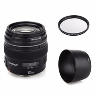 YONGNUO YN100mm 100mm F2 Large Aperture AF/MF Medium Telephoto Prime Lens Fixed Focus Lens for Canon for Nikon DSLR EOS Camera